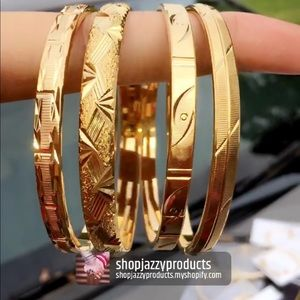 Gold bangles for adults and kids